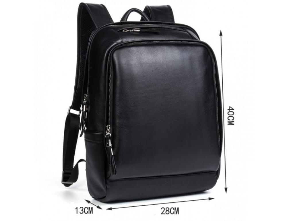 Мужской кожаный рюкзак Tiding Bag B3-058A черный - Фото № 9