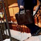 Мужской кожаный портфель Issa Hara B14 (92-00) тёмно-коричневый - Фото № 101