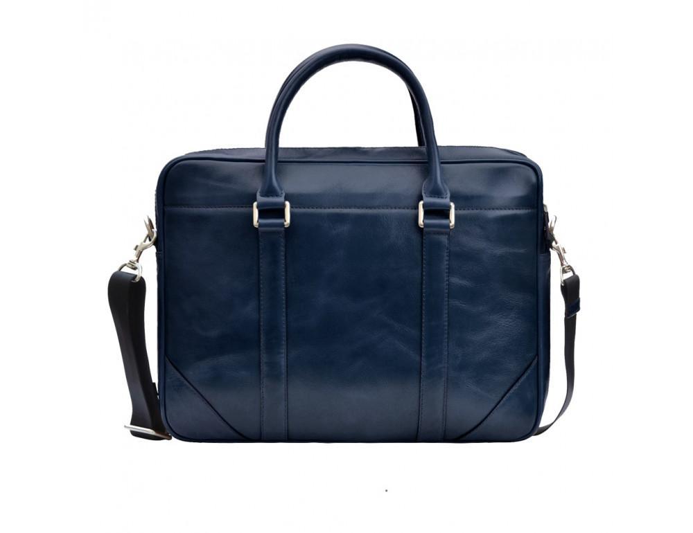 Кожаная сумка под ноутбук Issa Hara b14Bl синий - Фото № 1