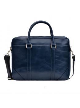 Кожаная сумка под ноутбук Issa Hara b14Bl синий