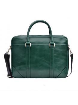 Кожаная сумка под ноутбук Issa Hara b14iz зелёный