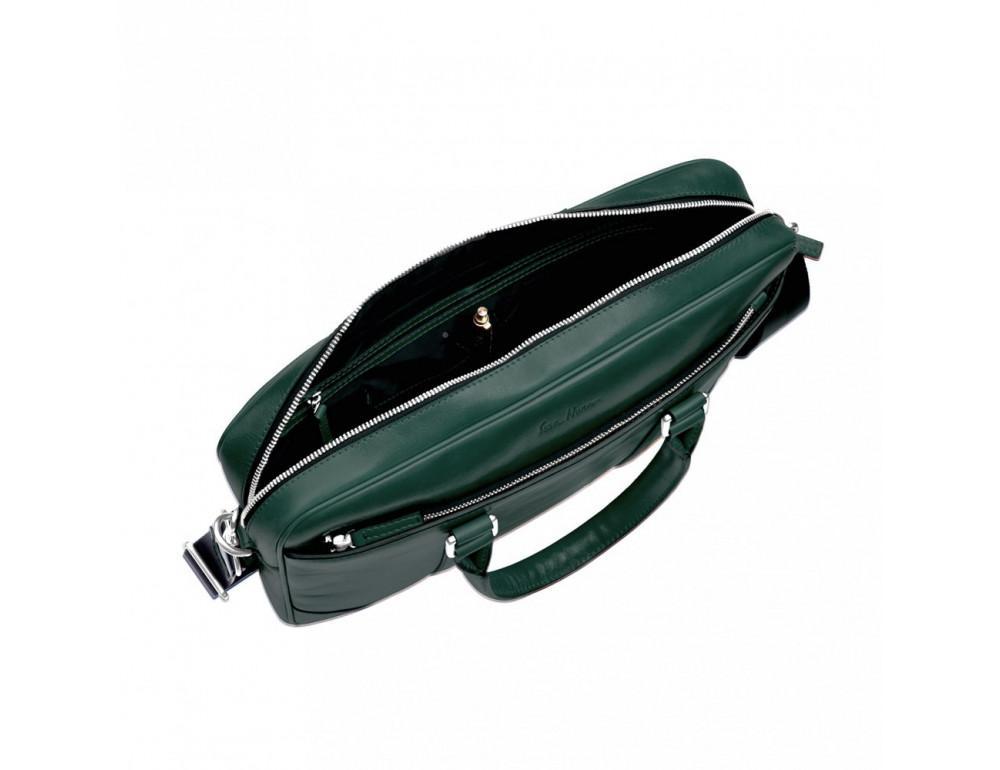 Кожаная сумка под ноутбук Issa Hara b14iz зелёный - Фото № 2
