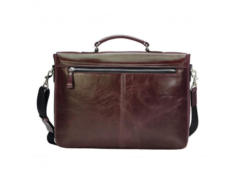 Мужской кожаный портфель с клапаном Issa Hara B35B тёмно-коричневый - Фото № 2