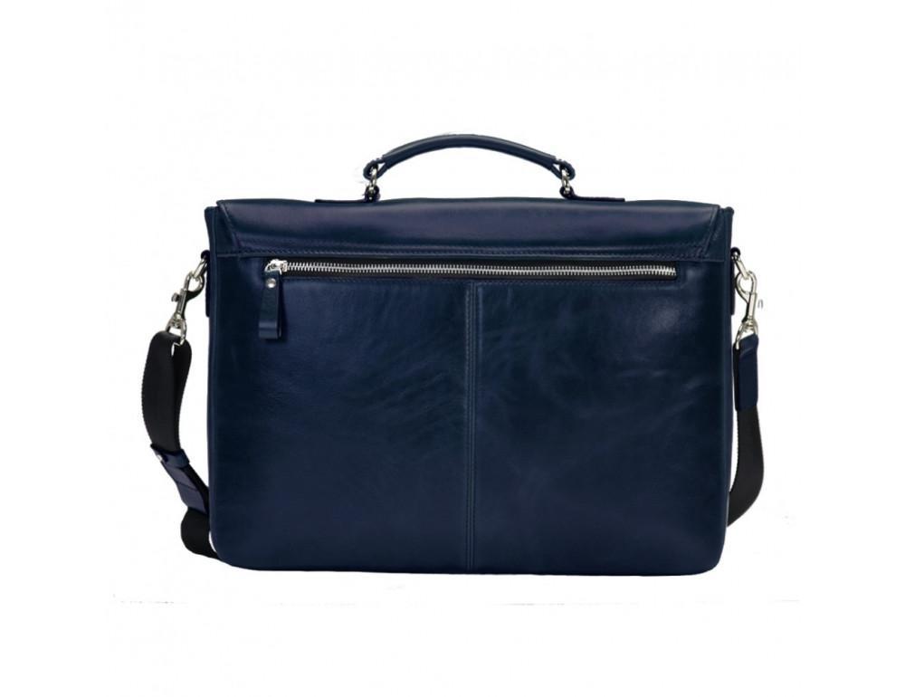 Мужской кожаный портфель с клапаном Issa Hara b35Bl синий - Фото № 2