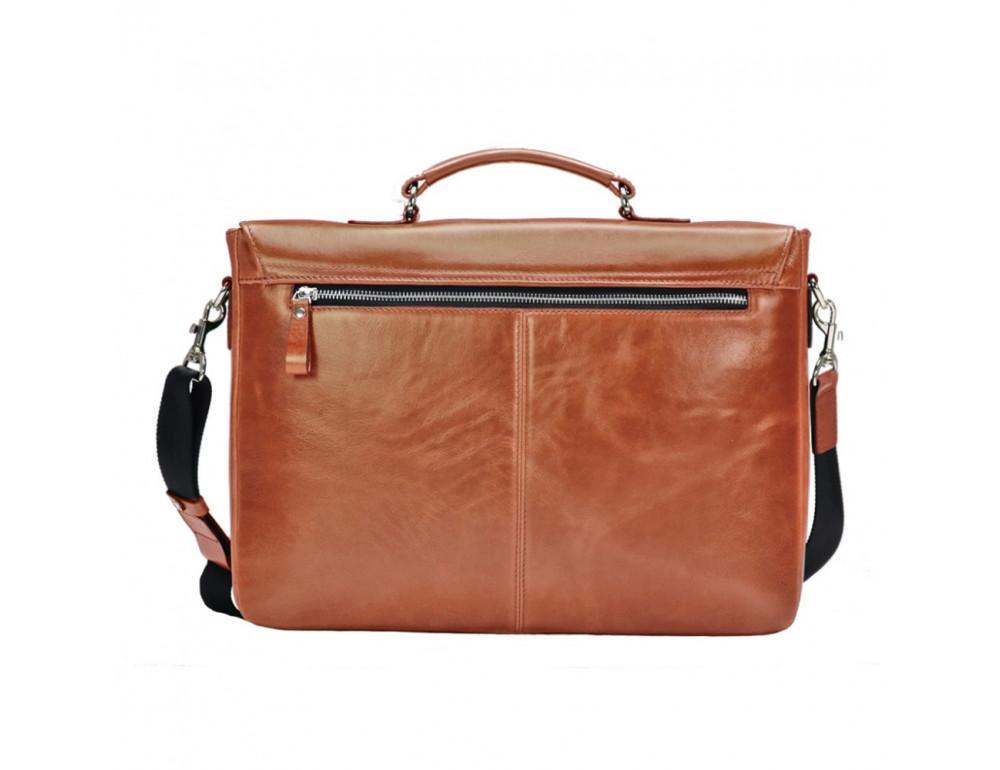 Мужской кожаный портфель с клапаном Issa Hara B35C коричневый - Фото № 2