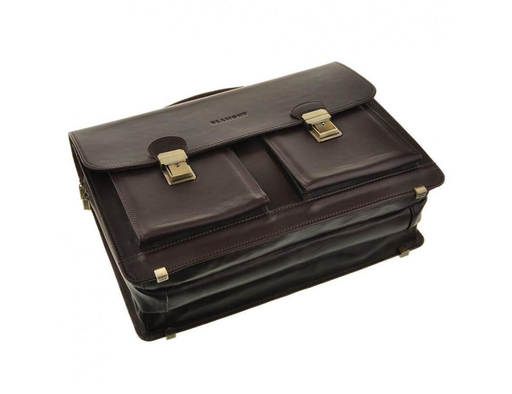 Мужской кожаный портфель Blamont Bn050C - Фото № 3