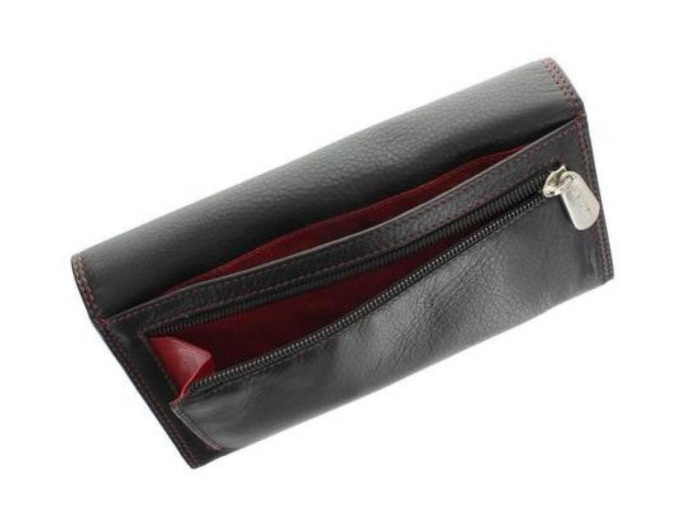Женский кожаный кошелек VISCONTI CD21 BLK/RED черный с красным - Фото № 3