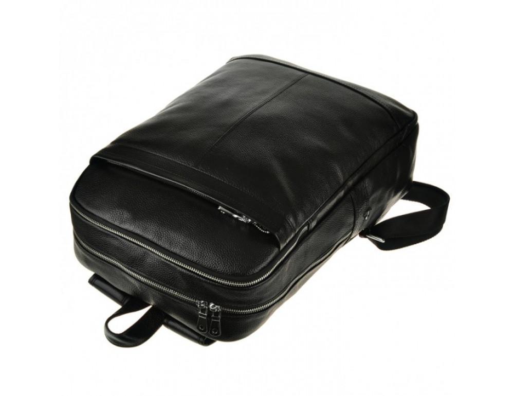 Мужской кожаный рюкзак Tiding Bag M7805A черный - Фото № 7