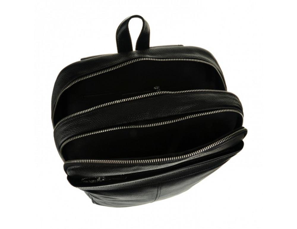 Мужской кожаный рюкзак Tiding Bag M7805A черный - Фото № 8