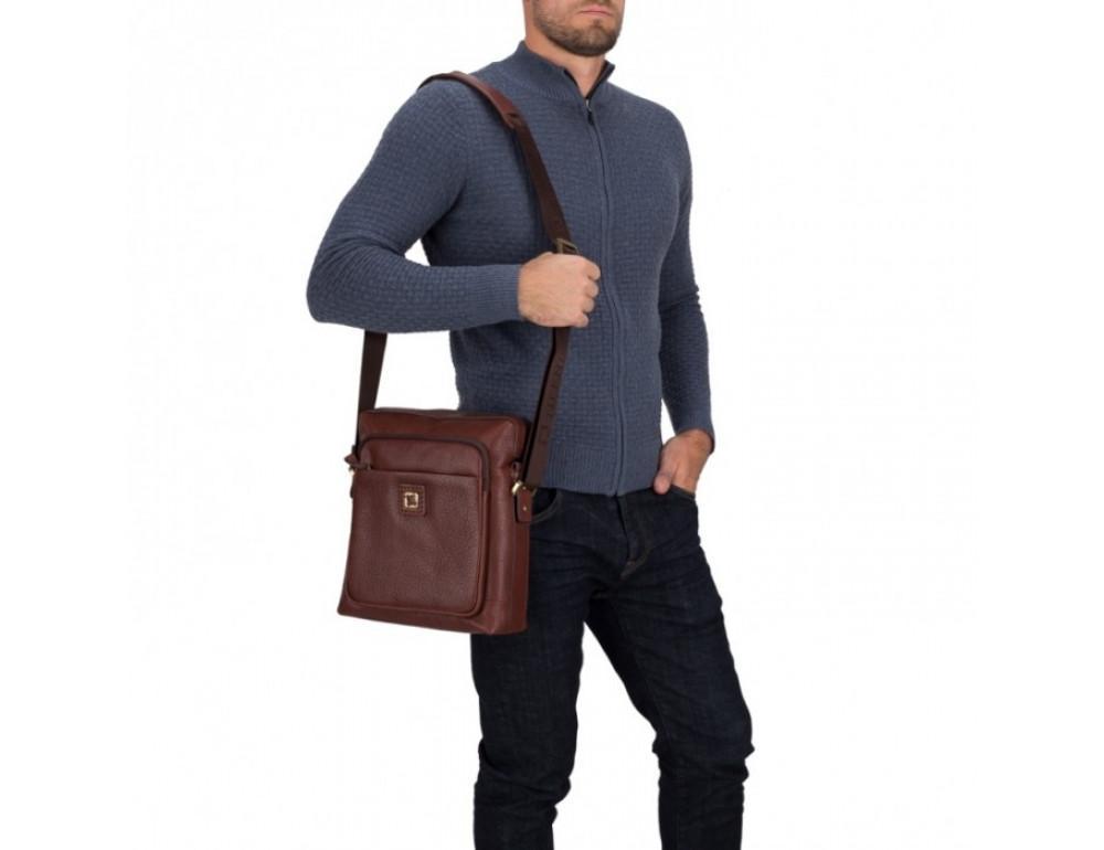 Мужская сумка-мессенджер Tifenis TF69833-5C коричневая - Фото № 2