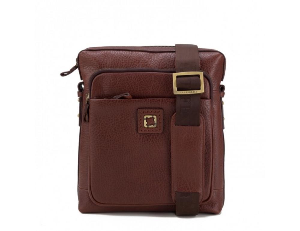 Мужская сумка-мессенджер Tifenis TF69833-5C коричневая - Фото № 3