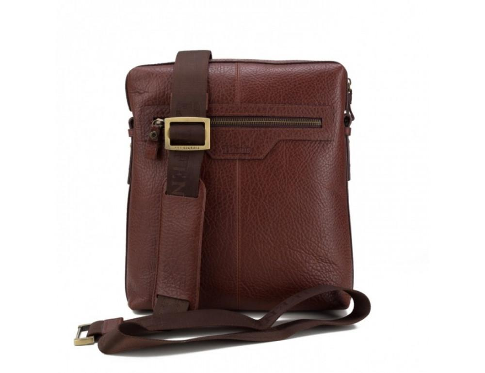 Мужская сумка-мессенджер Tifenis TF69833-5C коричневая - Фото № 4