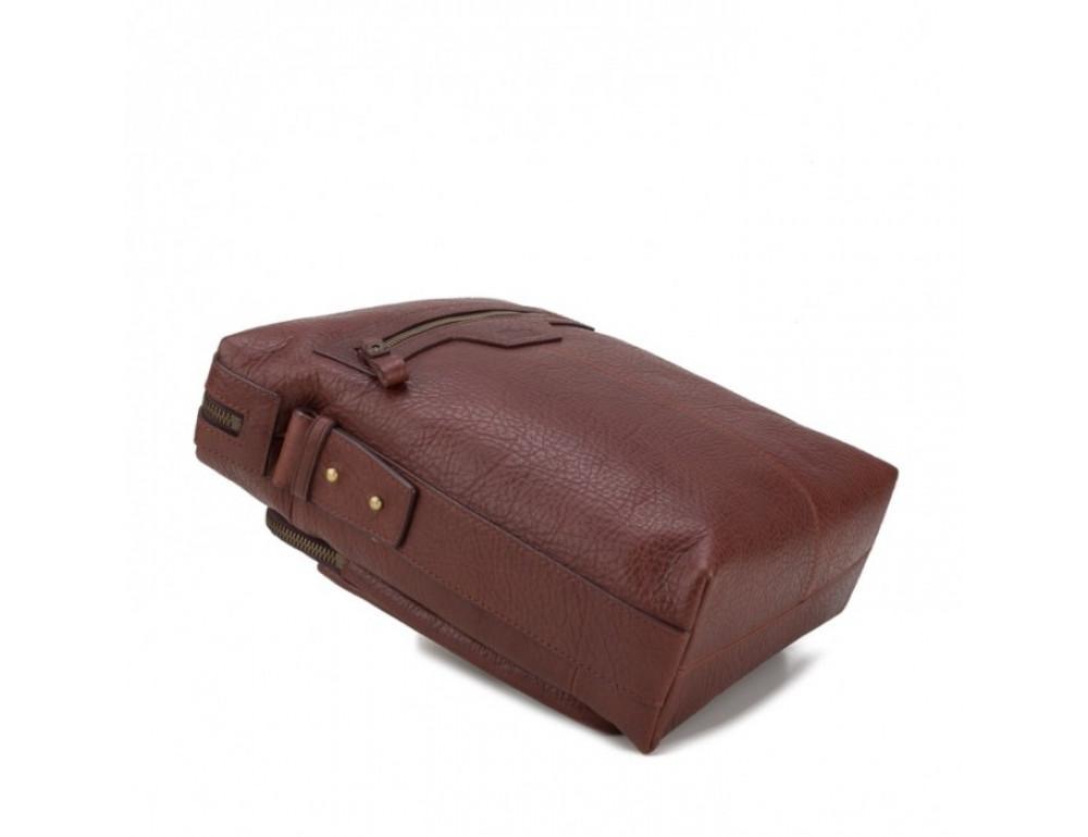 Мужская сумка-мессенджер Tifenis TF69833-5C коричневая - Фото № 6