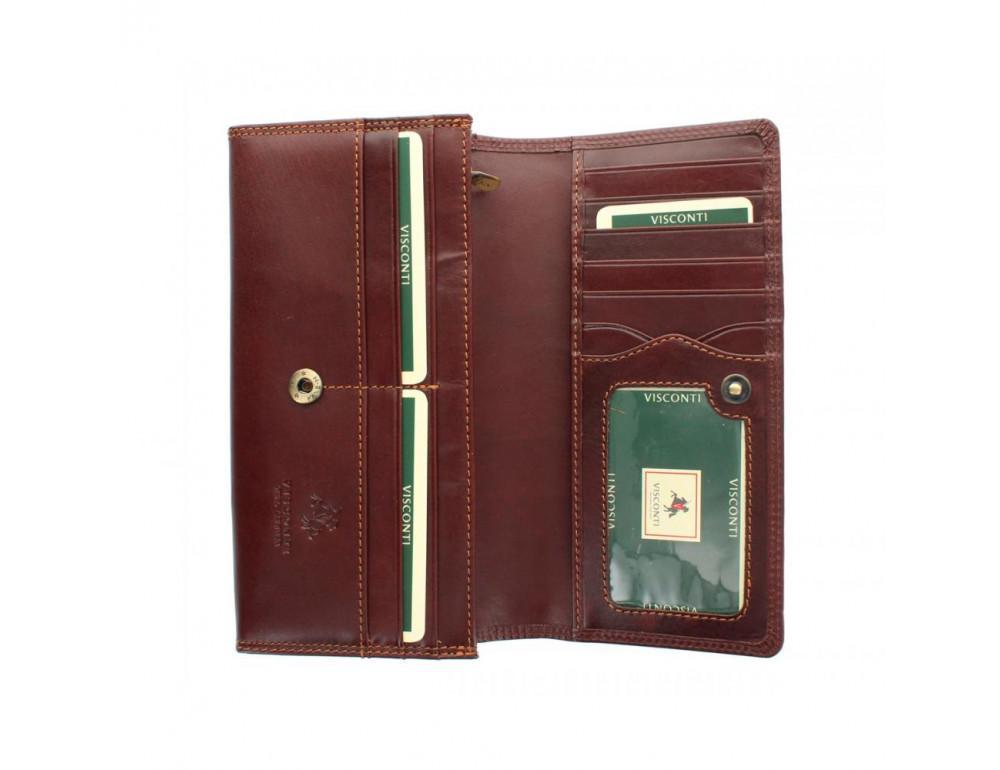 Женский кожаный кошелек VISCONTI MZ10 IT BRN коричневый - Фото № 2