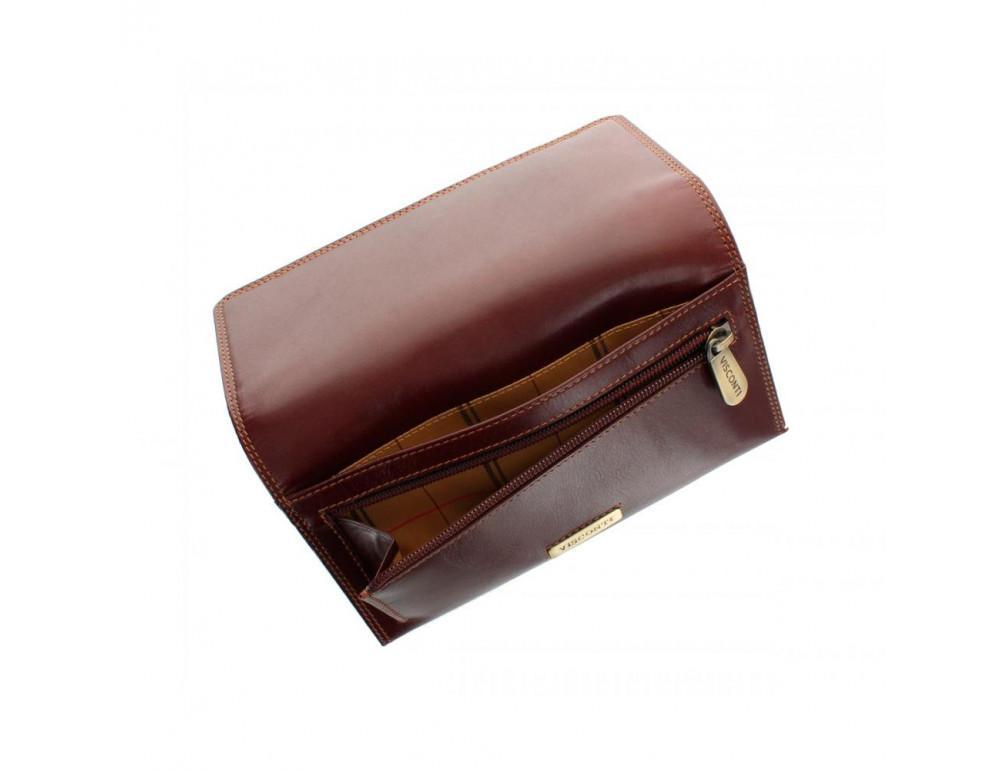 Женский кожаный кошелек VISCONTI MZ10 IT BRN коричневый - Фото № 4