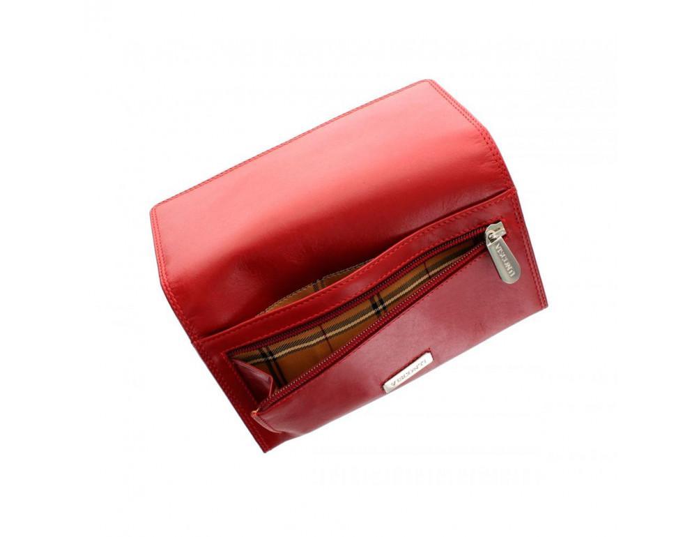 Женский кожаный кошелек VISCONTI MZ10 IT RED красный - Фото № 4