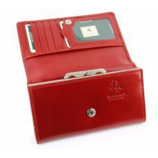 Маленький женский кошелек Visconti MZ12 красный
