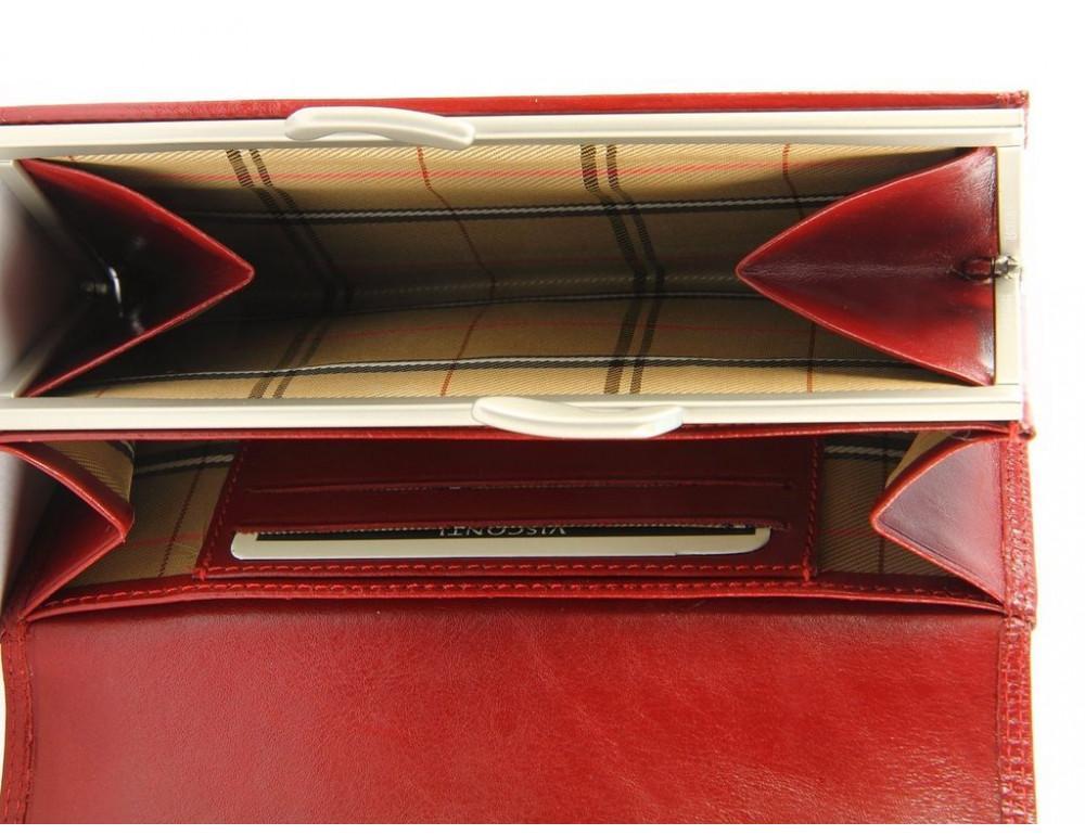Маленький женский кошелек Visconti MZ12 красный - Фото № 3