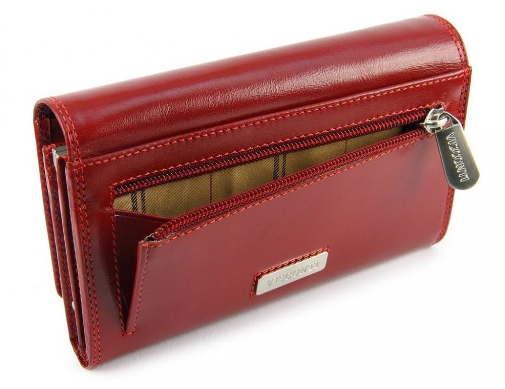 Маленький женский кошелек Visconti MZ12 красный - Фото № 4