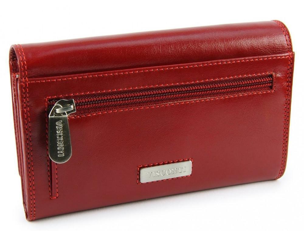 Маленький женский кошелек Visconti MZ12 красный - Фото № 5