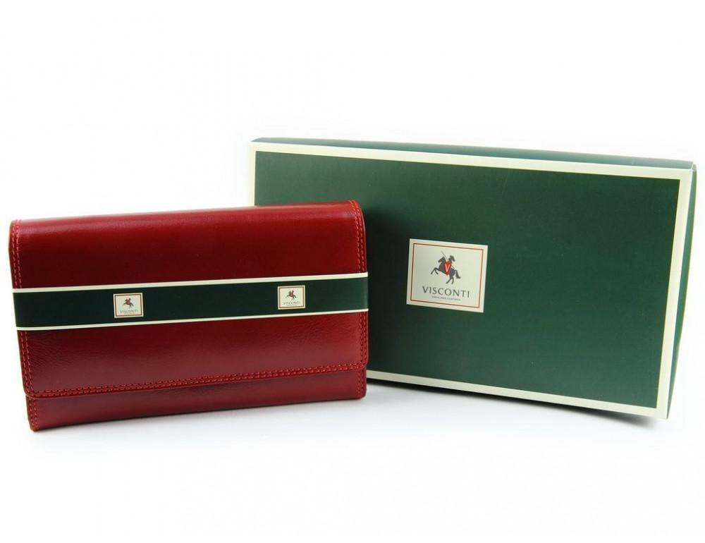 Маленький женский кошелек Visconti MZ12 красный - Фото № 6