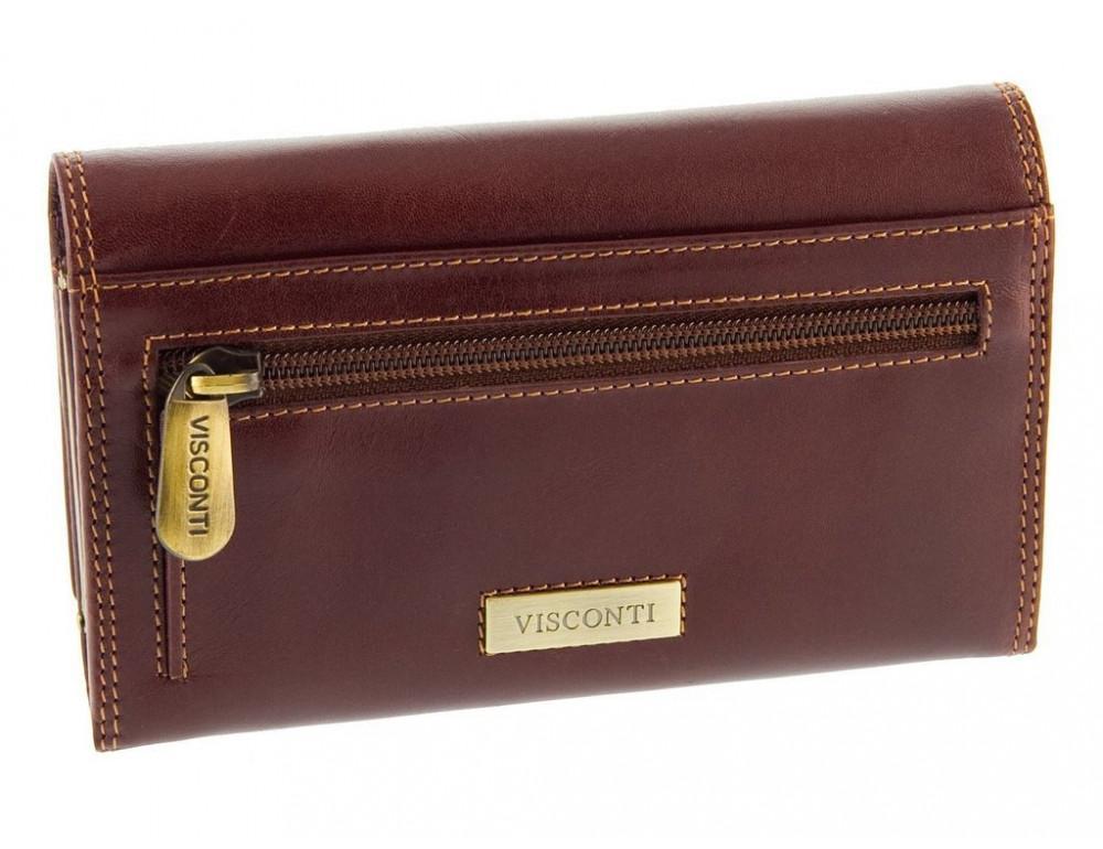 Маленький женский кошелек Visconti MZ12 IT BRN коричневый - Фото № 2