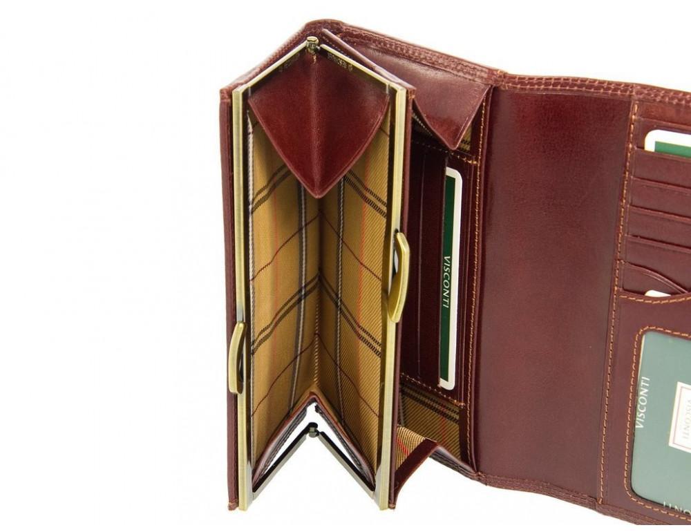 Маленький женский кошелек Visconti MZ12 IT BRN коричневый - Фото № 3