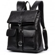 Шкіряний рюкзак TIDING BAG B3-062A чорний