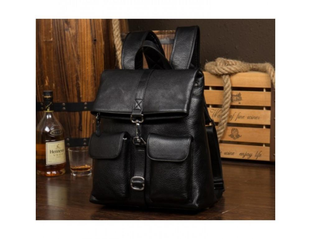 Кожаный рюкзак TIDING BAG B3-062A черный - Фото № 2