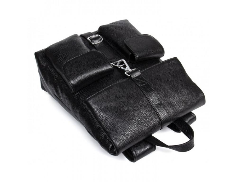 Кожаный рюкзак TIDING BAG B3-062A черный - Фото № 5