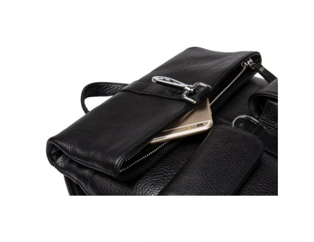 Кожаный рюкзак TIDING BAG B3-062A черный - Фото № 7