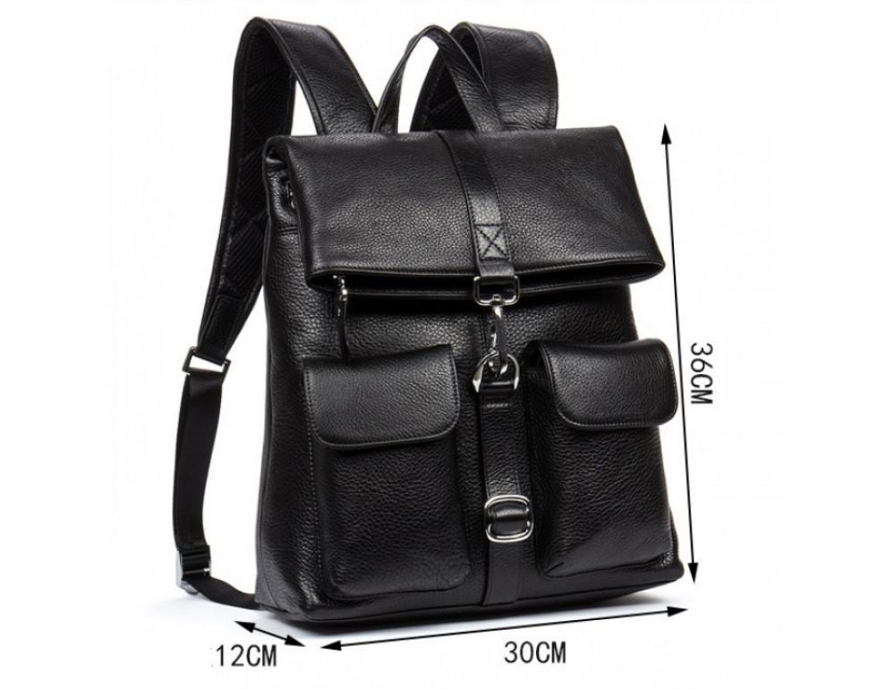 Кожаный рюкзак TIDING BAG B3-062A черный - Фото № 9