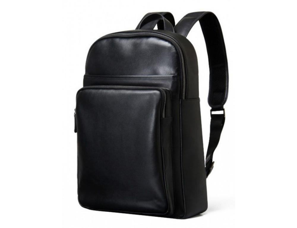 Мужской кожаный рюкзак Tiding Bag B3-2331A черный - Фото № 1