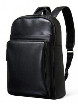 Мужской кожаный рюкзак Tiding Bag B3-2331A черный