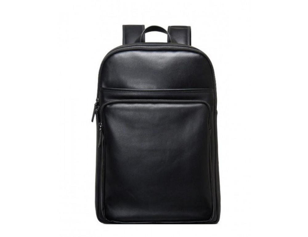 Мужской кожаный рюкзак Tiding Bag B3-2331A черный - Фото № 3