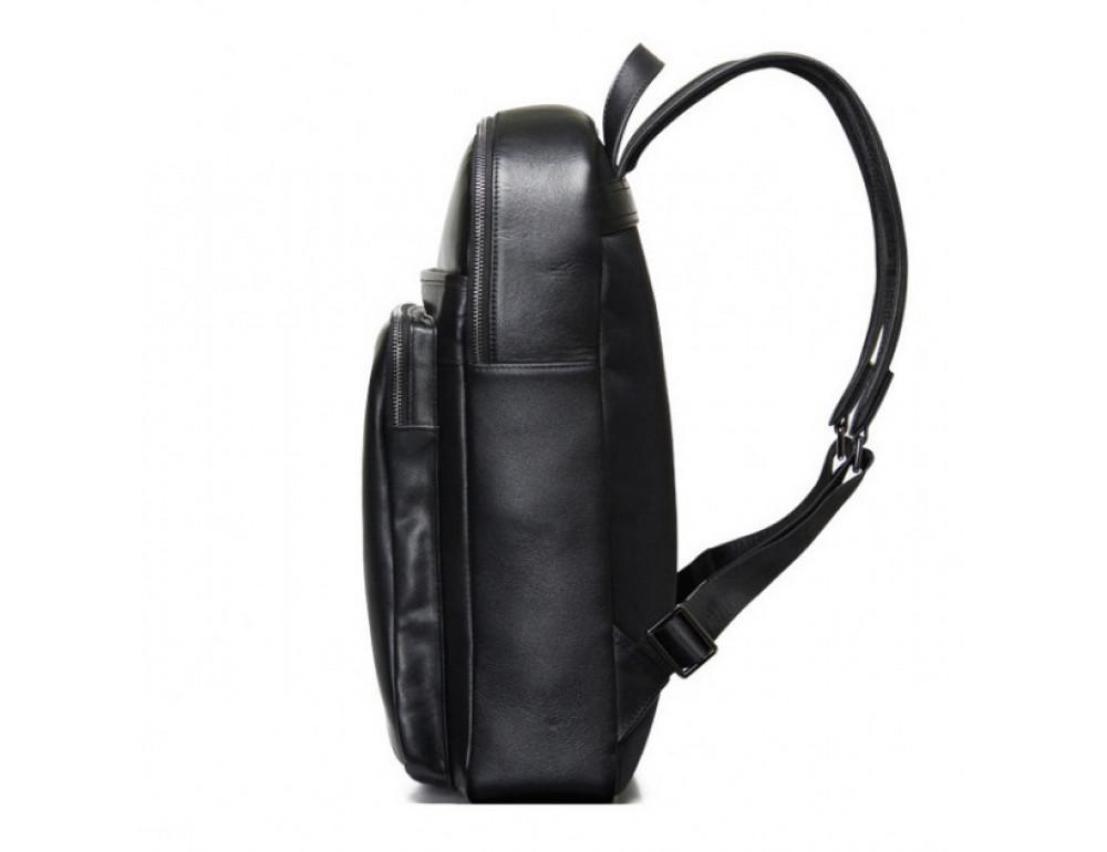 Мужской кожаный рюкзак Tiding Bag B3-2331A черный - Фото № 4