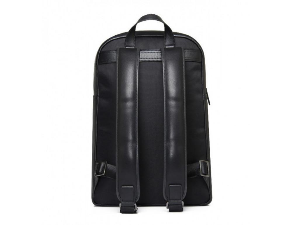 Мужской кожаный рюкзак Tiding Bag B3-2331A черный - Фото № 5