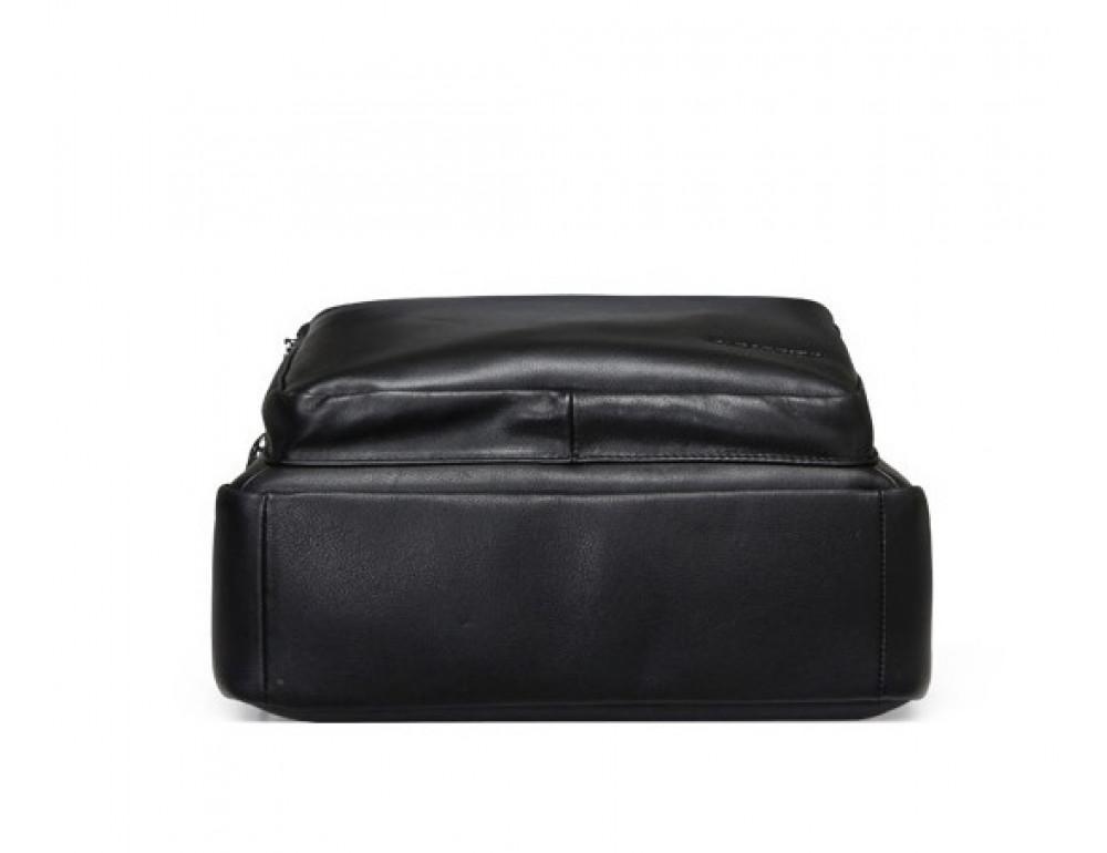 Мужской кожаный рюкзак Tiding Bag B3-2331A черный - Фото № 6