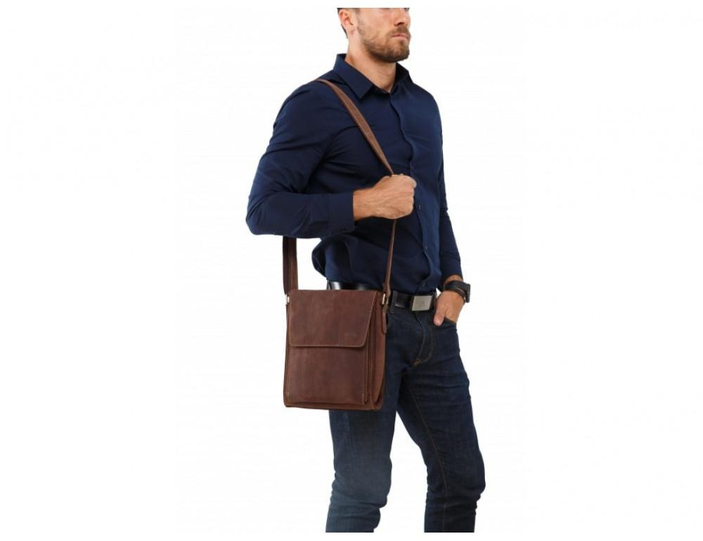 Мужская кожаная сумка на плечо TIDING BAG 7055B-1 - Фото № 2