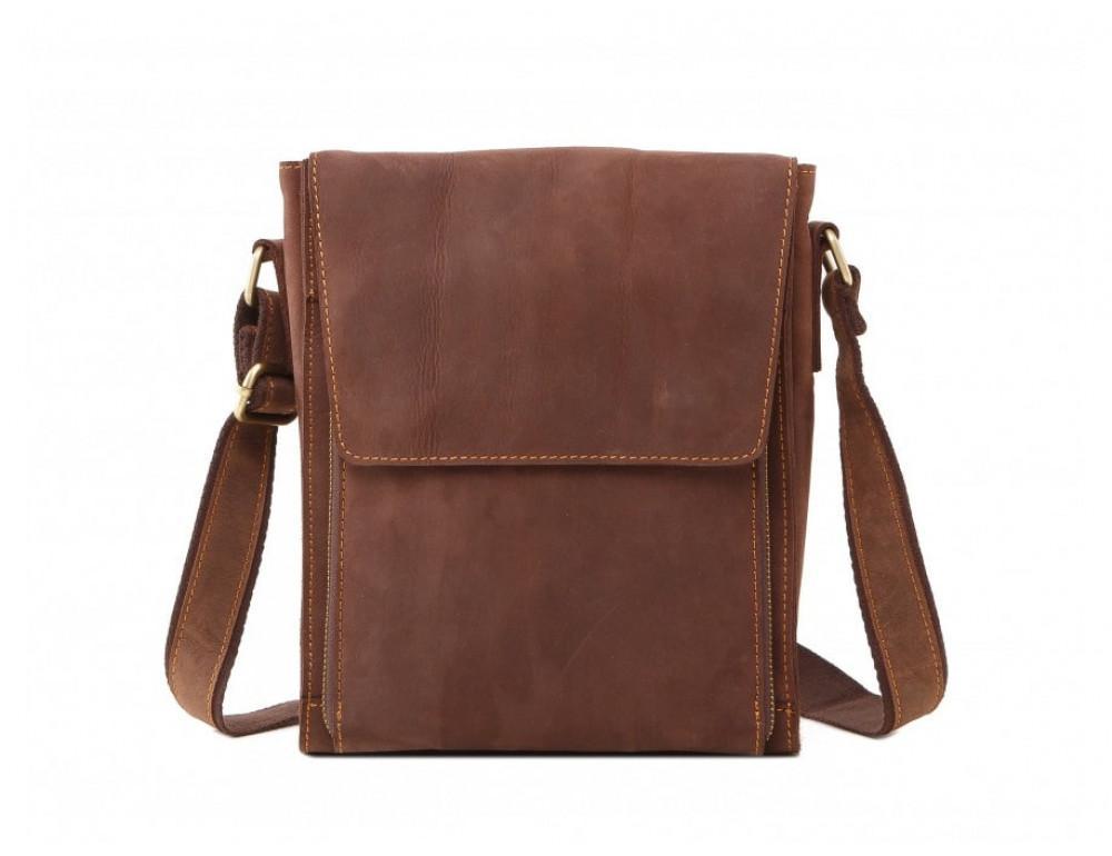 Мужская кожаная сумка на плечо TIDING BAG 7055B-1 - Фото № 3