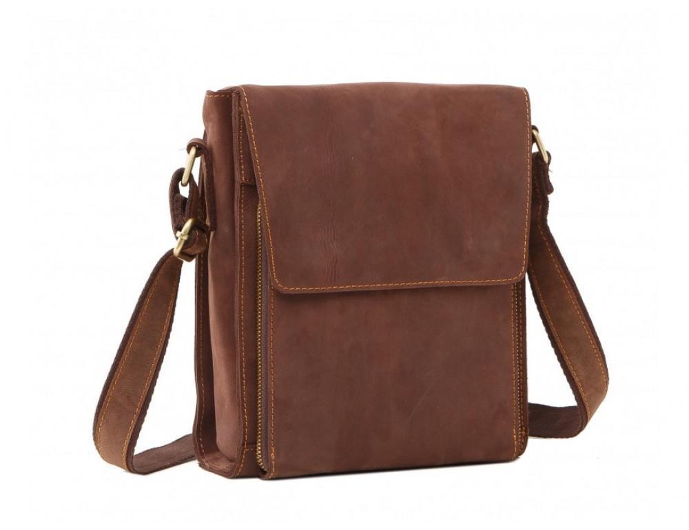 Мужская кожаная сумка на плечо TIDING BAG 7055B-1 - Фото № 4