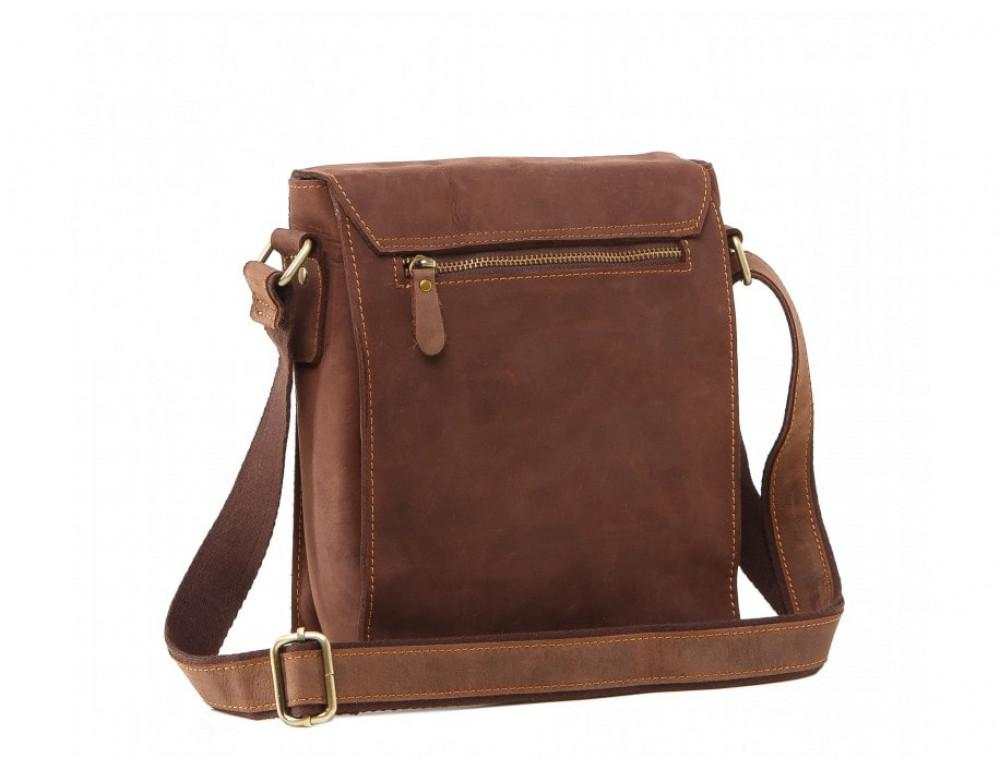 Мужская кожаная сумка на плечо TIDING BAG 7055B-1 - Фото № 5
