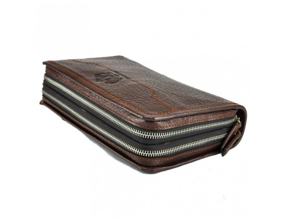 Кожаный мужской клатч Tifenis Tf69147C коричневый - Фото № 4