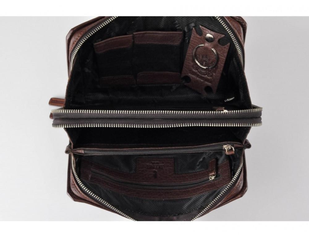 Кожаный мужской клатч Tifenis Tf69147C коричневый - Фото № 6