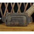 Мужская кожаная бананка Bexhill bx9801C коричневая - Фото № 100