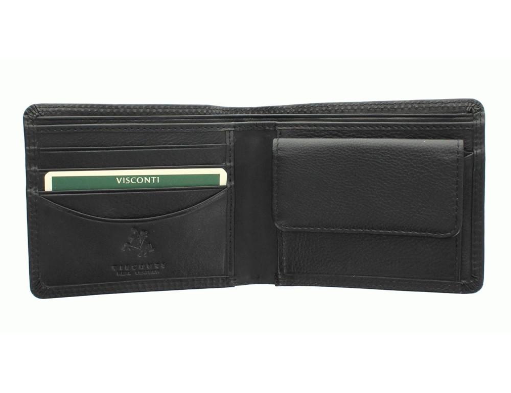 Стильный мужской бумажник Visconti HT7 BLK Heritage черный - Фото № 2