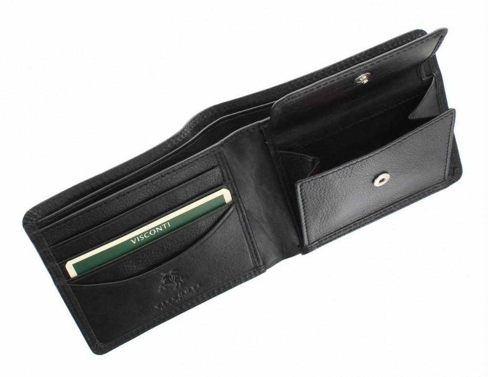 Стильный мужской бумажник Visconti HT7 BLK Heritage черный - Фото № 4