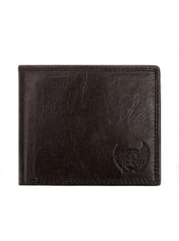 Мужской кожаный кошелёк Ruff Ryder RR-37951WG серо-коричневый