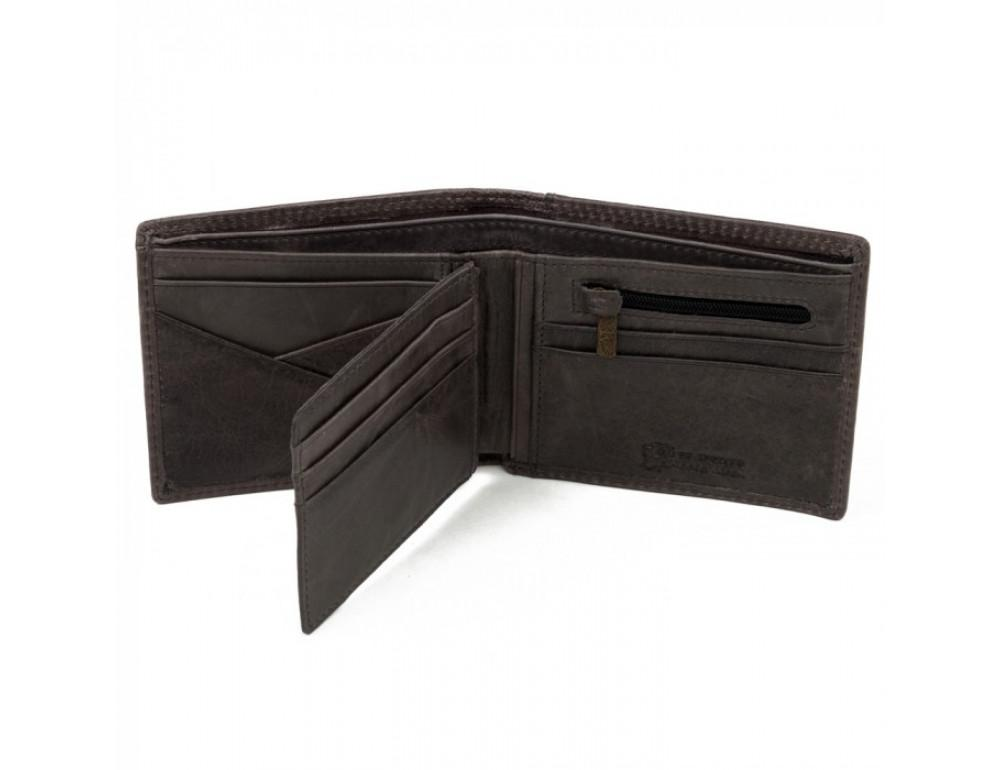 Мужской кожаный кошелёк Ruff Ryder RR-37951WG серо-коричневый - Фото № 3