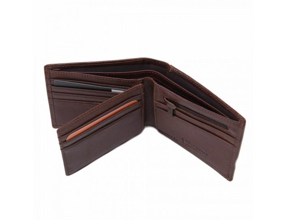 Кожаный портмоне Ruff Ryder RR-38255-1W коричневый - Фото № 2